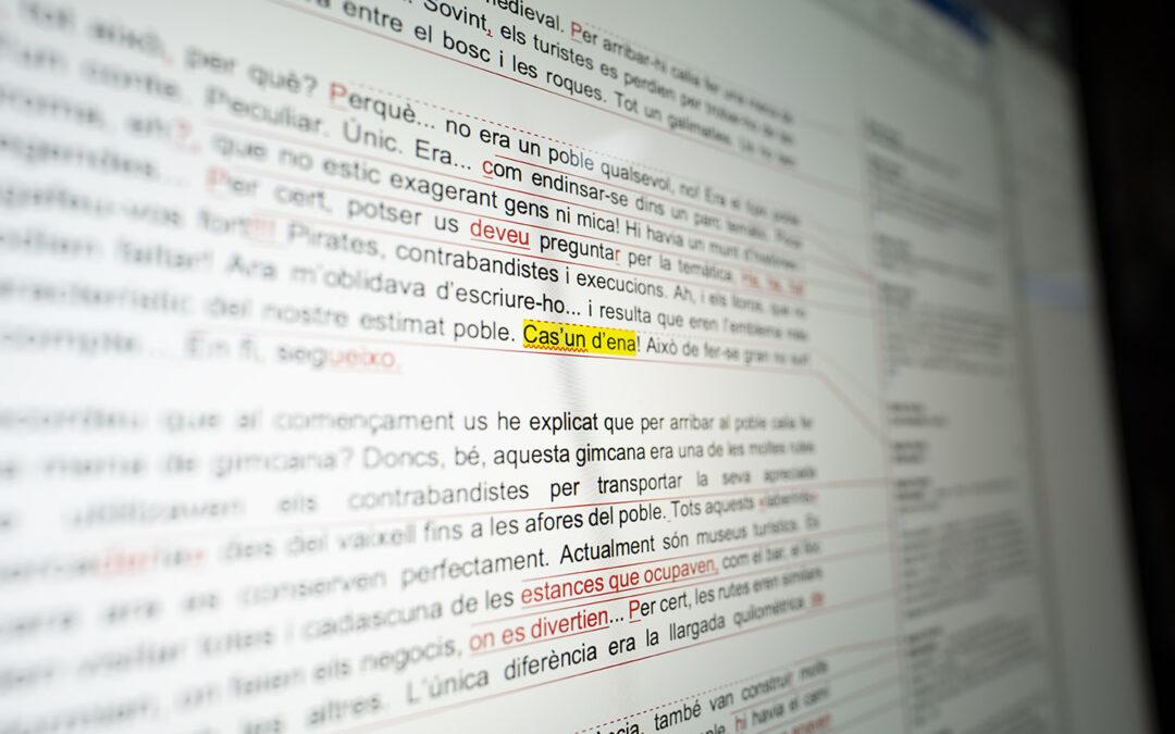 Correcció d'un llibre a Editorial Intrèpida